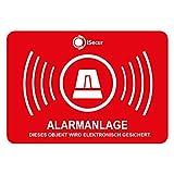 '10pegatinas Alarma, isecur®, alarmgesichert, 5x 3,5cm, art. Hin 047_ 10_ exterior, incluye 2pegatinas, Nota con alarma, außenklebend para venta