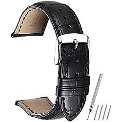 Montre Bracelet en Cuir Geniune Remplacement 14mm 16mm 18mm 19mm 20mm 21mm 22mm Classique Boucle ardillon coloré CHIMAERA