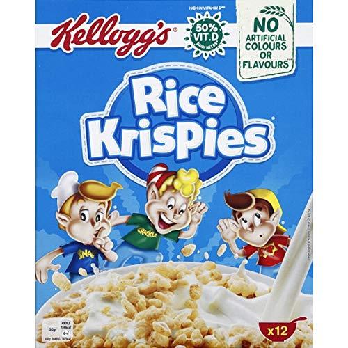 Kellogg'S - Céréales Rice Krispies - 375G - Lot De 4 - Livraison Rapide en France - Prix Par Lot