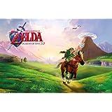 "Póster ""The Legend of Zelda/La Leyenda de Zelda"" Ocarina of Time/del Tiempo (Nintendo) (91,5cm x 61cm)"
