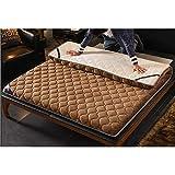 CNZXCO Verdicken sie Tatami Boden futon-matratze Schlafen pad Anker Riemen, Matratzenauflage Abdeckung Matt mat Folding Dauerhaft-braun 90x200cm(35x79inch)