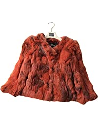 Bellerfur 100% auténticos reales de la piel del conejo Outwear la capa del cortocircuito de la chaqueta para la Mujer