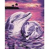 Delfine Malen nach Zahlen Schipper 24 x 30 cm