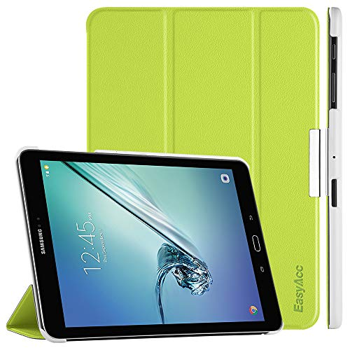 EasyAcc Hülle für Samsung Galaxy Tab S2 9.7, Smart Cover mit Standfunktion Auto Wake Up Sleep PU Leder Hüllen Kompatibel für Samsung Galaxy Tab S2 9.7 Zoll (T810/ T813/ T815/ T819), Grün