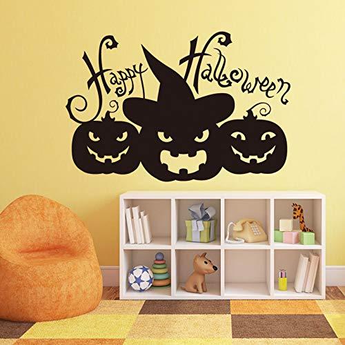 kyprx Halloween Dekoration glücklich Halloween kürbiskopf Art Design Dekoration Vinyl Wandaufkleber abnehmbare Haus 58 * 86 cm