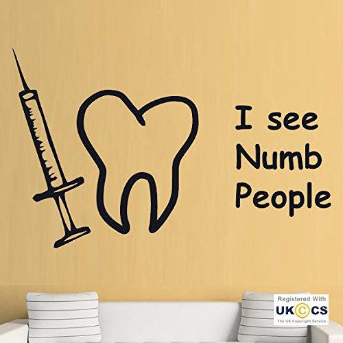 Dentista Numb gente divertida dientes Wall Stickers Arte calcomaníaas de vinilo del sitio casero...