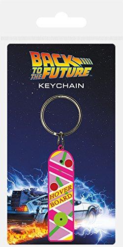 Back to the Future RK38571C Schlüsselanhänger aus Gummi, Mehrfarbig, 4.5 x 6 cm