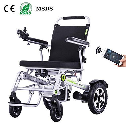 Mnjin Rollstuhl-elektrische Transport-Stühle, leichte Lithium-Batterie auf dem älteren untauglichen Roller Ultra-Light Airplane Folding Folding -