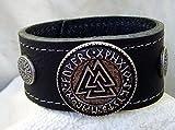 Lederarmband Wotansknoten mit Odins Schutz Farbe schwarz - 3