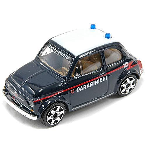 MODELLINO AUTO BBURAGO STREET FIRE FIAT 500 CARABINIERI MACCHINA D'EPOCA DA COLLEZIONE SCALA 1: 43. MWS