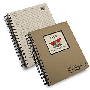 Parties, My Entertaining Journal - Kraft Hard Cover (prompts on Every Page, Recycled Paper, Read More.)