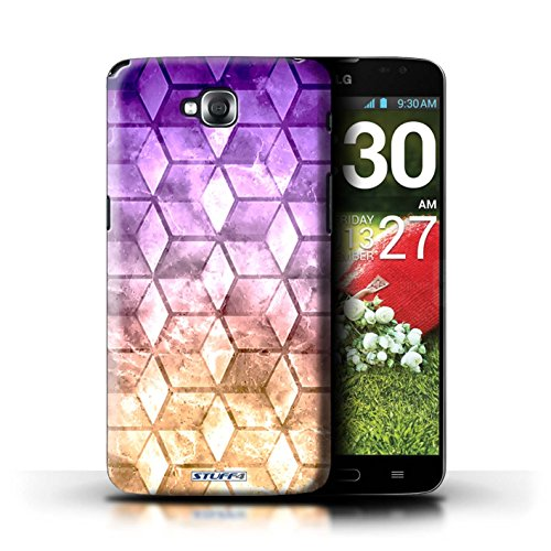 Kobalt® Imprimé Etui / Coque pour LG G Pro Lite/D680 / Jaun/Vert conception / Série Cubes colorés Violet / Orange