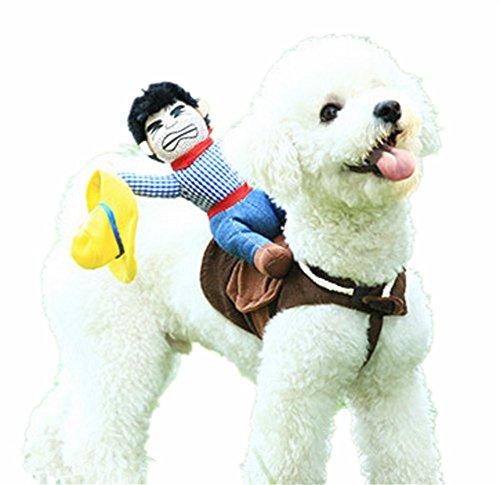 Haustier Kostüm Pet Anzug Cowboy Rider Stil Hund Halloween-Kostüm Pet Funny Kleidung, M ()