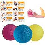 3pcs Grip Strengthen Ball Fitness Hand Therapy Balls Exercises Squeeze Ball Hand Grips Home Exercise Power Balls