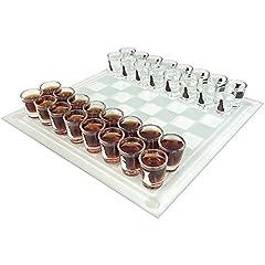 Idea Regalo - Gioco degli scacchi con bicchierini: gioco spiritoso in cui si beve