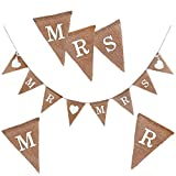 Oblique Unique® Mr & Mrs Jute Girlande Hochzeit Banner