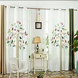 GWELL Kinderzimmer Gardinen Vorhang Baum Ösenschal Dekoschal für Wohnzimmer Schlafzimmer 60% Blickdicht 1er-Pack 270x130cm(HxB)