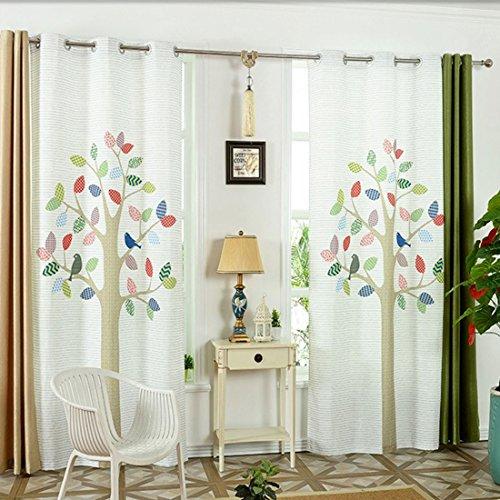 Gwell, tende per la cameretta bambini, con occhielli, tenda decorativa per soggiorno, camera da letto, 270x 130cm (altezza x larghezza)