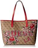 Guess Vikky, Borsa Tote Donna, Multicolore (Logo Floral), 32.5x27x15 cm (W x H x L)