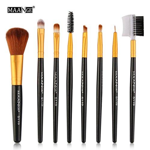 Pinceaux Maquillage, | 10 pcs | Haut de gamme Manche en bois Pinceaux de maquillage Beauté Rose Ensemble de outils avancés de beauté de cosmétiques