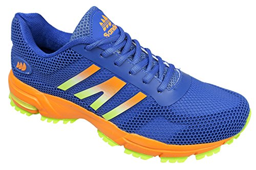 Gibra ® homme très légère et confortable-bleu/orange-taille 41–46 pied Bleu - Bleu/orange