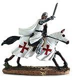 Alxshop-Figura de džcoration en ržsine: templario con cargar žpže levže diseño con caballo
