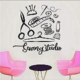 Jhping Sticker Mural Atelier De Couture Sticker Mural Atelier Home Decor Vinyle Stickers Muraux À La Main Sur Mesure Fenêtre Décoration Autocollant Film Mural 57X59 Cm