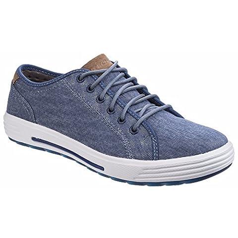 Skechers Mens Porter Meteno Low Profile Textile Canvas Casual Sneakers