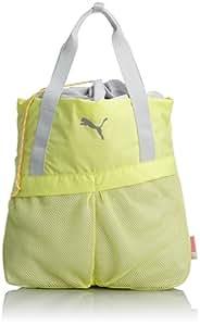 PUMA Gym Shopper Women's Sports Bag Yellow Sunny Lime-Glacier Gray-Fluo Pink Size:37 x 39 x 13 cm