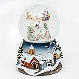 La base de cette belle boule de neige, est avec soigneusement,Avec triple couche fine, et de petits détails donnent à allersoft votre maison une touche magique.A l'intérieur de la monde peut voir le traîneau du Père NoëlTout cela est avec pour la lum...