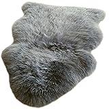 Premium New Zealand Lammfell grau Spitzenqualität ca. 105-110 cm waschbar geruchsneutral