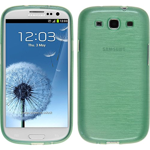 PhoneNatic Custodia per Samsung Galaxy S3 Neo Cover Verde Brushed Galaxy S3 Neo in Silicone + Pellicola Protettiva