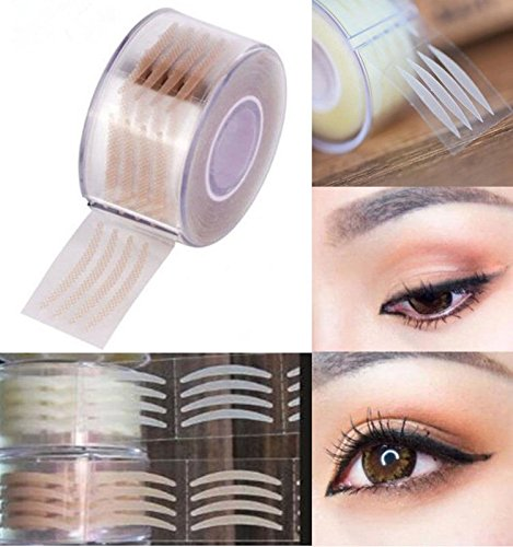 SBE 600pcs Double Fold Invisible Eyelid Stripe Big Eyes Clear Makeup Lace Mesh Eyelid Shadow Sticker Tape Tools (Small)