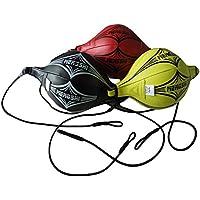 Bolsa de boxeo de piel sintética de poliuretano, doble extremo, de velocidad para entrenamiento MMA, de Grofitness, negro