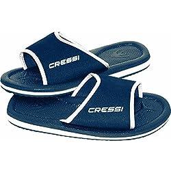 Cressi Beach Lipari Chanclas, Unisex Adulto, Azul, 45