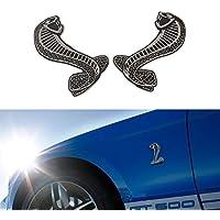 PME–2Cobra Serpente Fender emblema, per Ford MUSTANG SVT COBRA Shelby Cobra Griglia Anteriore Griglia (Mustang Cobra Emblem)