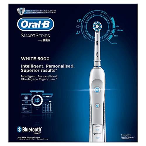Oral-B SmartSeries 6000 elektrische Zahnbürste, mit Timer und vier Aufsteckbürsten, weiß