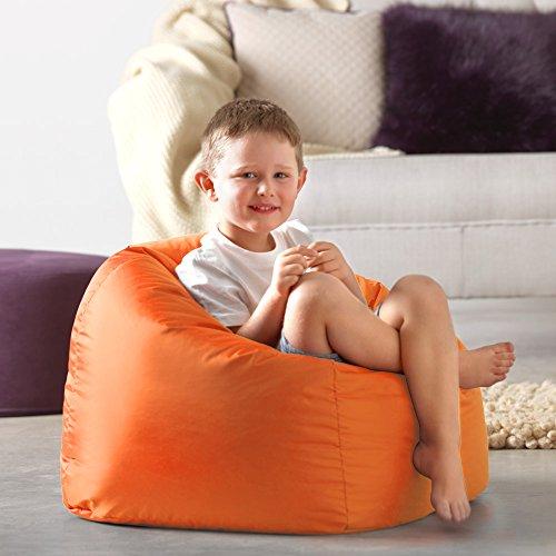 Bean Bag Bazaar Großer Sitzsack für Kinder orange–100{d0d0d422cb94c7cb08bb19fbdc1fa8b089aa4e90c2111f1b9b6cb0144e139ae8} Wasserabweisend Indoor & Outdoor Riesen Kinder Bean Bag