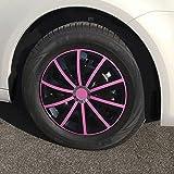 (Größe & Design wählbar) 16 Zoll Radkappen Gral Pink passend für fast alle Fahrzeugtypen (universal)