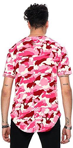... Pizoff Unisex Hip Hop Urban Basic Langes T Shirts mit Tarnmuster Y1728- 01 ...