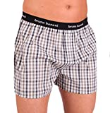 Bruno Banani Herren Boxershorts Unterhose Cotton (XL, Anthrazit/Weiß Karo(1556)01)
