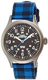 Timex - TW4B02100 - Expedition - Montre Homme - Quartz Analogique - Cadran Noir - Bracelet Nylon Bleu