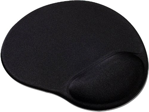 Speedlink Vellu Gel-Mauspad mit Handballenauflage (Unterlage mit Handgelenkauflage, Gel-Kissen zur Entlastung des Handgelenk) schwarz