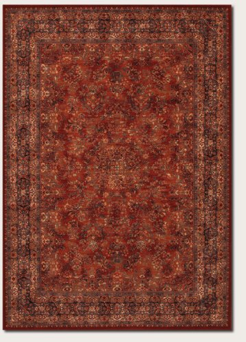 couristan 1067/3097Old World Classics Kerman Medaillon/Burgunderrot 4-feet 6von druckknopfstiel 6Teppich, Wolle, burgunderfarben, 10' x 14'