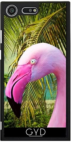 Coque pour Sony Xperia XZ Premium - Portrait Rose Flamingo by BluedarkArt