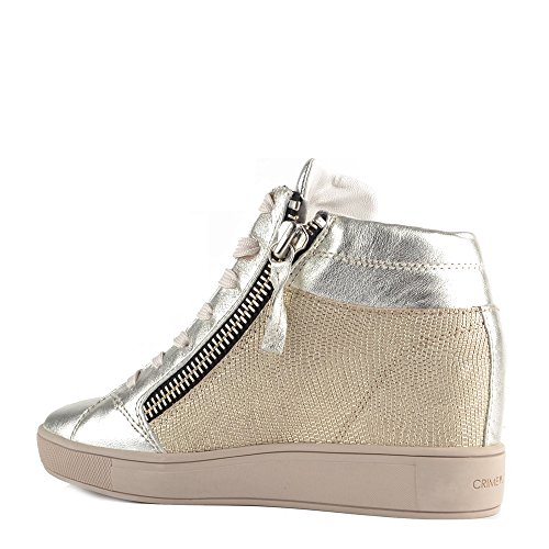 Crime London Chaussures Java Platine Baskets Montantes Argent Femme Argent