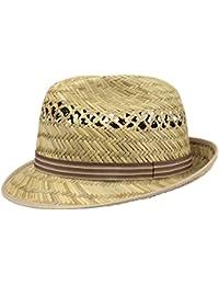Lipodo Striped Ribbon Trilby Cappello di Paglia Unisex  25d44f8026c9