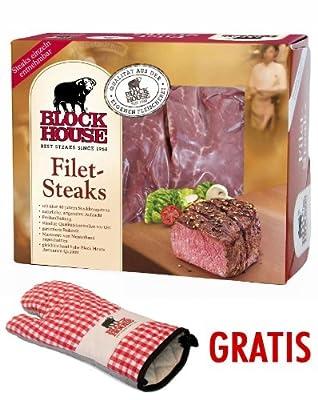 Block House Filet Frischfleisch ca. 1,02 kg inklusive gekühltem Versand innerhalb von ca. 7 Arbeitstagen (da frisch zugeschnitten)