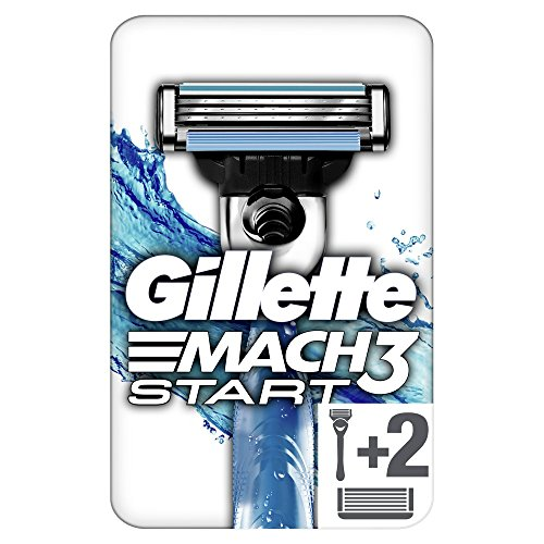 Gillette Mach3Start afeitadora/2cuchillas con mango Aqua grip