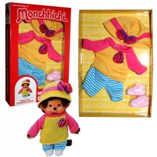 idung Monchhichi Shirt rosa gelb Kleidung Bekleidung Mädchen Monchichi (Kleine Mädchen-mode-boutique)